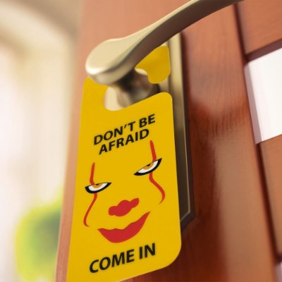 Aviso de porta: Pennywise (It)