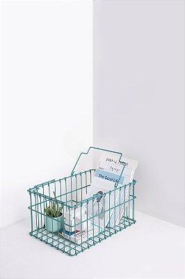 cesta organizadora turquesa
