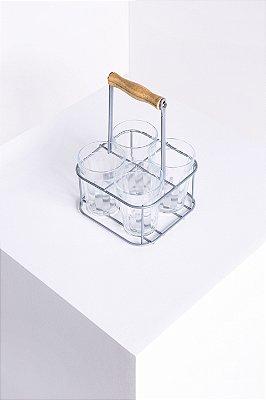 porta copos metal