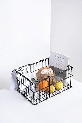 cesta supermercado preta