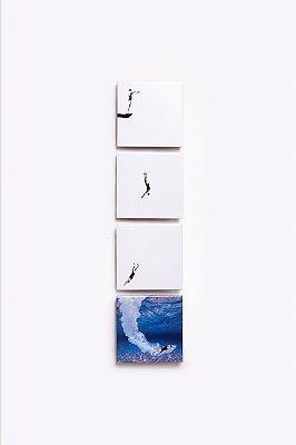 conjunto de azulejos mergulho