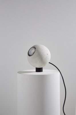 luminária esfera branca