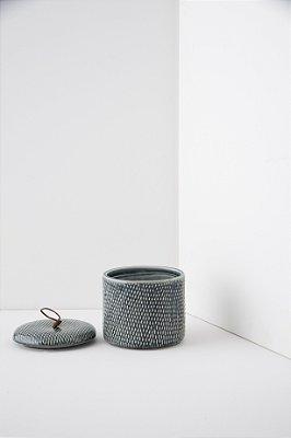 pote de cerâmica indigo blue P