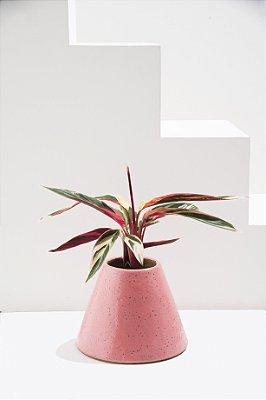 vaso de cerâmica cone rosa