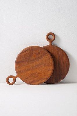 tábua de madeira peroba redonda