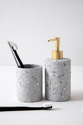 kit para banheiro paint cinza