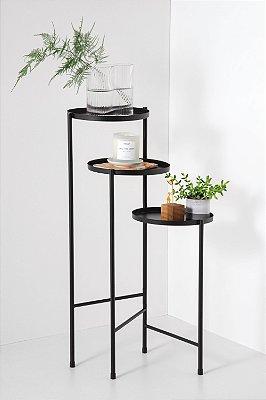 suporte para plantas em metal hannah