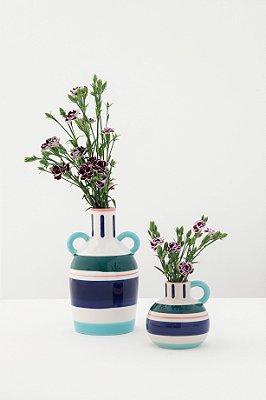 vaso em cerâmica blue