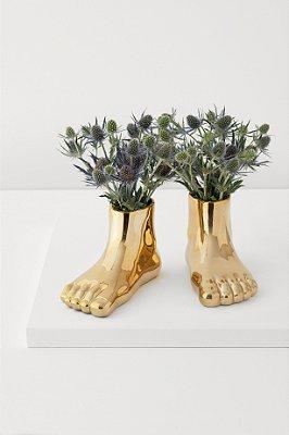 cachepot pés dourado