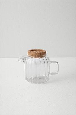 bule de vidro hygge canelado P