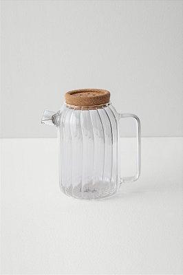 bule de vidro hygge canelado G