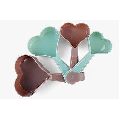 Colheres Medidoras Coração