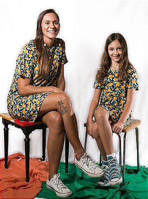 Vestido T-Shirt Limões - Infantil e Adulto