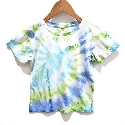 Camiseta Tie Dye Espiral Verde