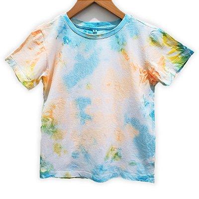 Camiseta Tie Dye Marmorizada Azul