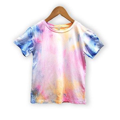 Camiseta Tie Dye Marmorizada Pink