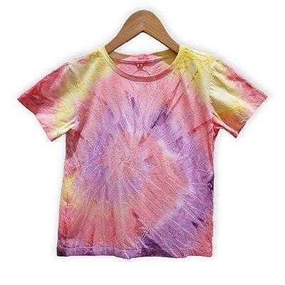 Camiseta Tie Dye Espiral Goiaba