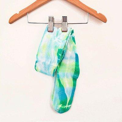 Meia 3/4 Tie Dye Verde Limão