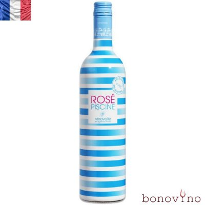 Rose Piscine Stripes