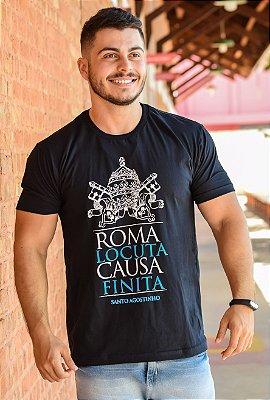 CAMISETA: ROMA FALOU, ASSUNTO ENCERRADO (preta)