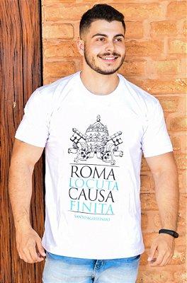 CAMISETA: ROMA FALOU, ASSUNTO ENCERRADO (branca)