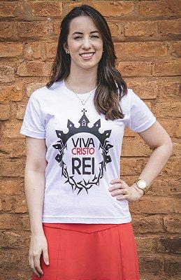 BABY LOOK: VIVA CRISTO REI! (branca)
