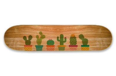 Quadro Shape Estampado - Cactus