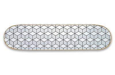Quadro Shape Estampado - Geométrico Cubos