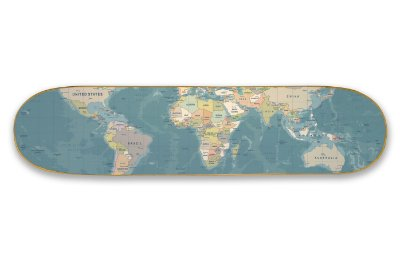 Quadro Shape Estampado - Mapa