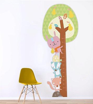 Adesivo Medidor de Altura - Árvore com Bichinhos (Até 160 cm)