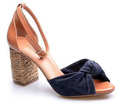 Sandália Neftali Comfort Nó Jeans