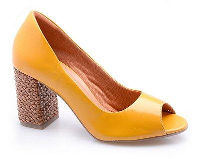 Peep Toe Neftali Comfort Amarelo Sol