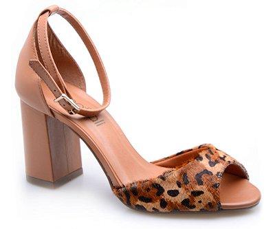 Sandália Neftali Comfort Onça/Caramelo