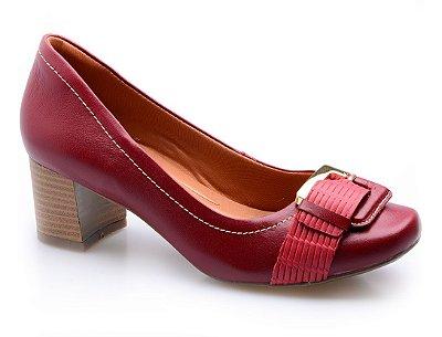 Sapato Neftali Comfort Fivela Vermelho