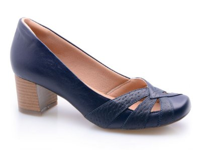 Sapato Neftali Comfort Couro Tressê Marinho