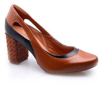 Sapato Neftali Comfort Caramelo Salto Onça
