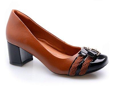 Sapato Neftali Comfort Tranças Conhaque
