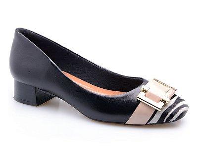 Sapato Neftali Enfeite Nude/Zebra