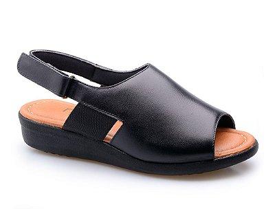 Sandália Neftali Velcro Preta
