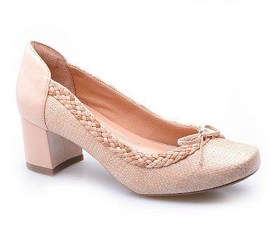 Sapato Conforto Laço Sand