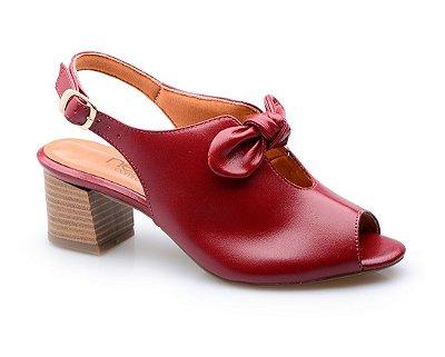 Sandália Conforto Laço Vermelho