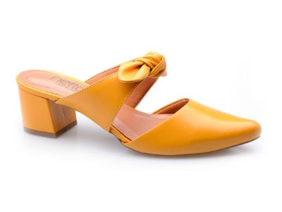 Sapato Conforto Laço Amarelo