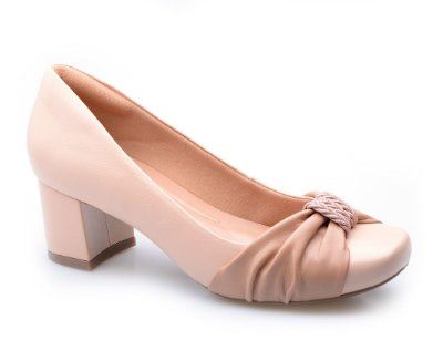 Sapato Conforto Detalhe Nude