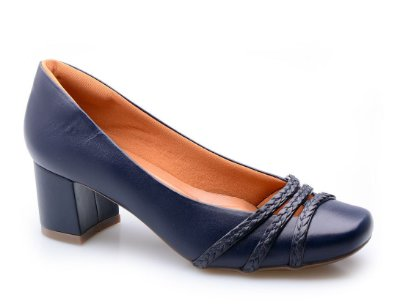Sapato Conforto Trança Marinho