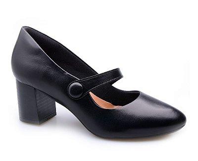 Sapato Conforto Boneca Preto