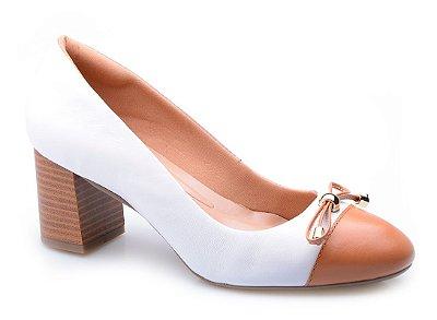Sapato Conforto Laço Branco