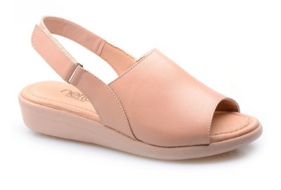 Sandália Super Comfort Velcro Avelã