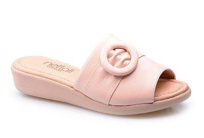 Sandália Super Conforto Enfeite Nude