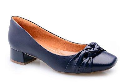 Sapato Conforto Trançado Marinho