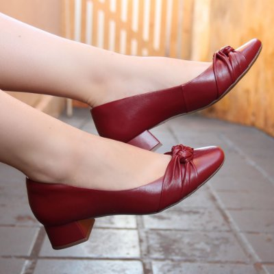 Sapato Neftali Trançado Vermelho